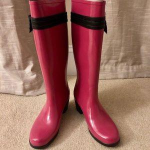 Kate Spade Vintage Pink Rain Boots Wellies 7.5